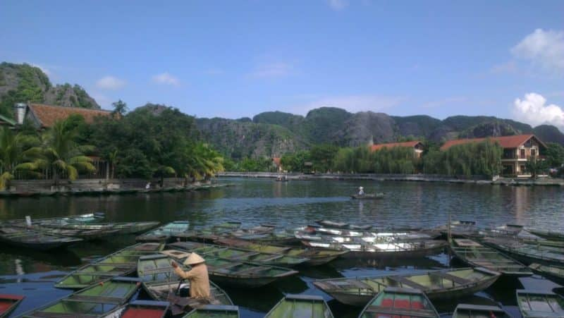 Launching point for tourist boats down the river at Tan Coc in Ninh Binh