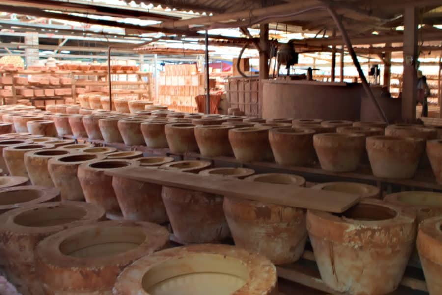 Clay works factory in Bat Trang ceramics village, Hanoi