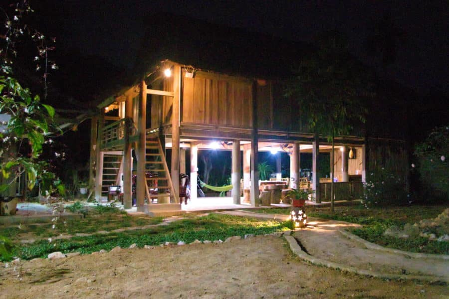 Thai stilt house for a homestay in Mai Hich