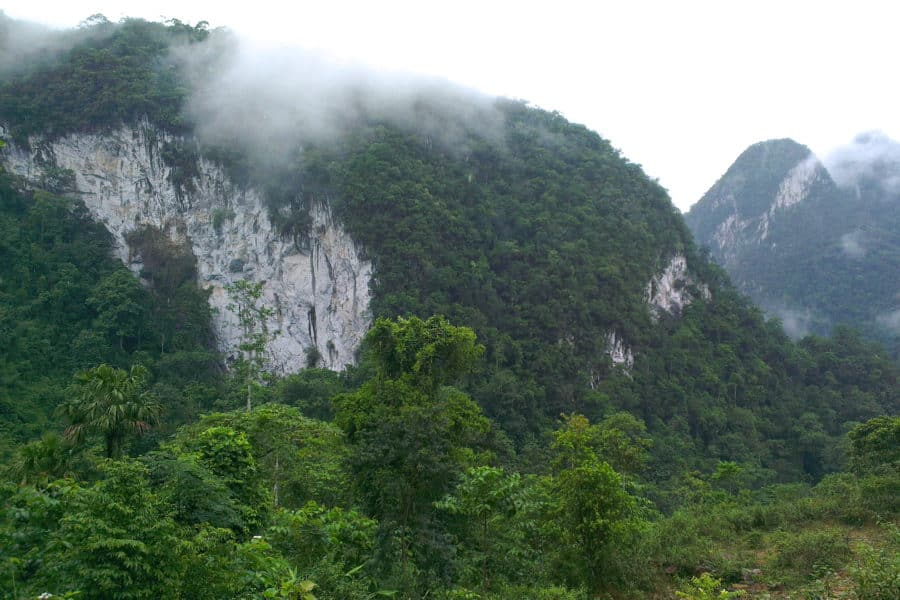 Karst mountain in Phu Tho province