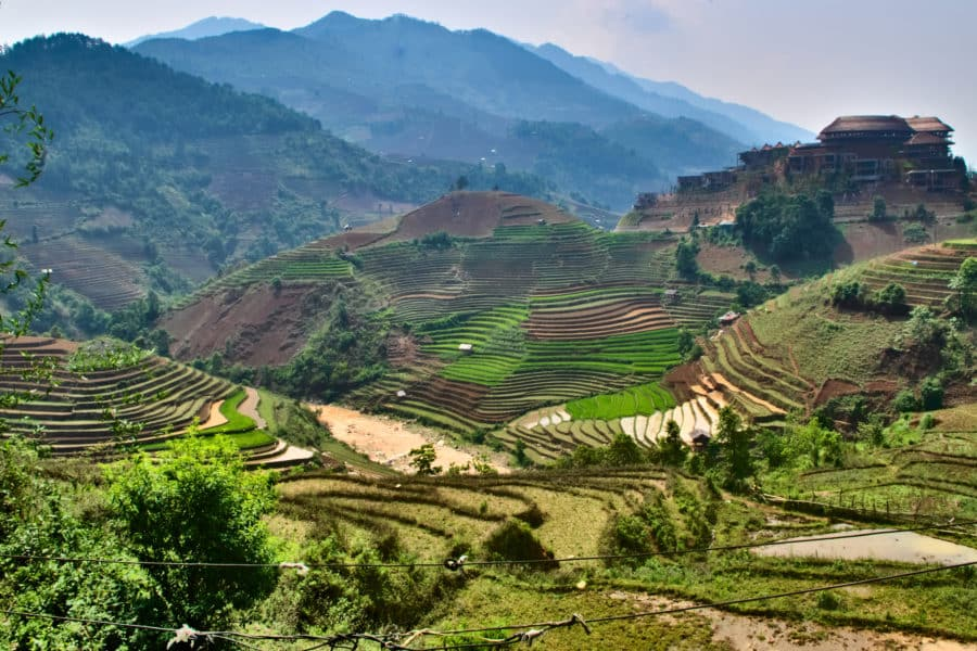 Rice terraces just South of Mu Cang Chai town