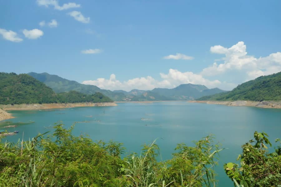 Da Bac on the Da river in Hoa Binh Province, The destination on day 1 of a motorcycle tour