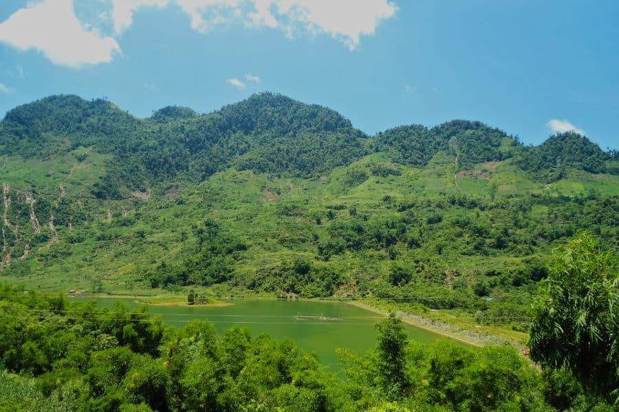 Countryside between Da Bac and Phu Yen on a motorbike tour