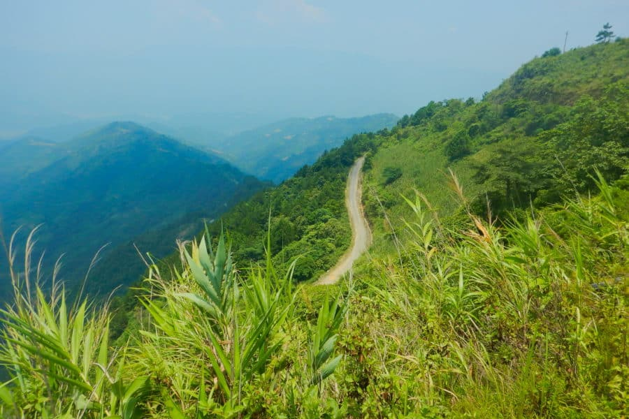Sin Ho Mountains in Lau Chau province on a motorbike tour of Vietnam