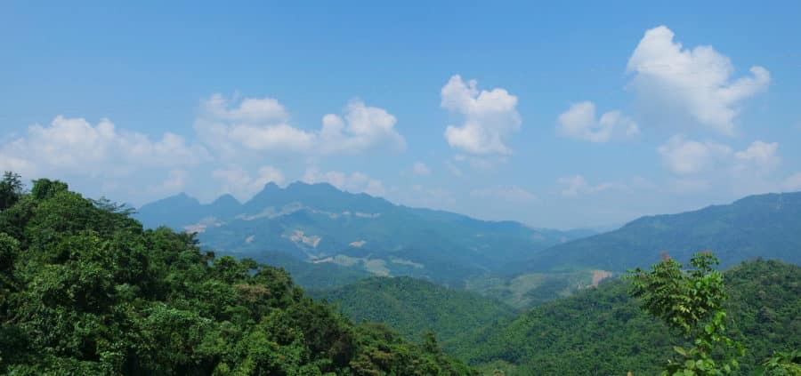 Mountains in Son La Province Between Phu Yen and Mai Chau on a motorbike tour