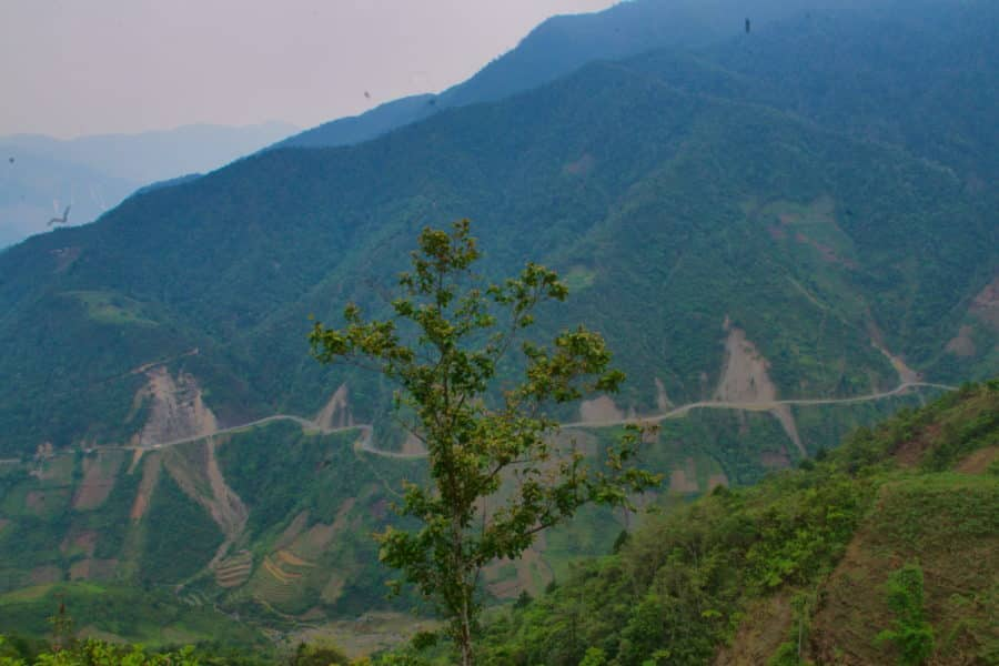 Khua Pha Pass in Yen Bai, Vietnam on a motorbike tour