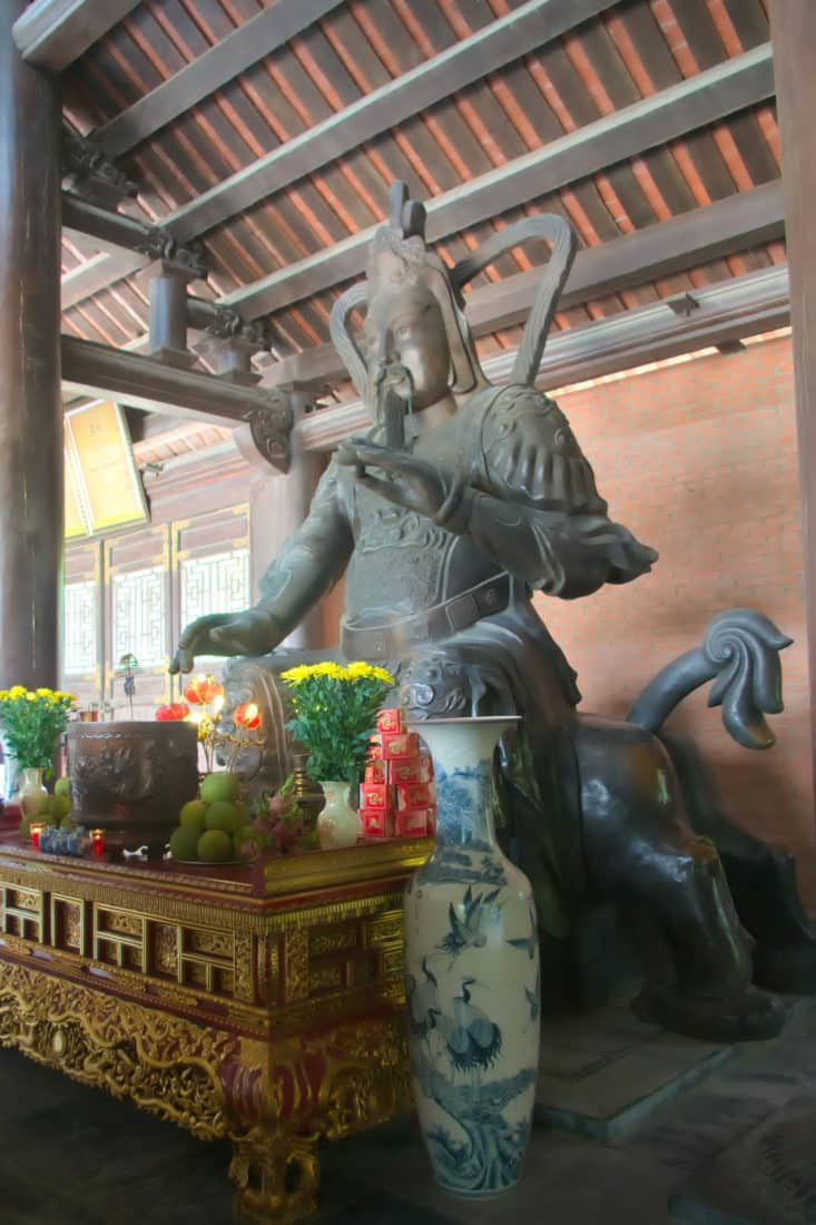 Statue at the 3 internal gates of Bai Dinh Pagoda complex, Vietnam