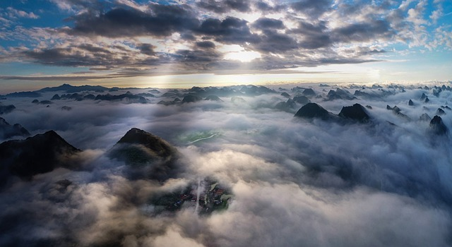 The Clouds of Bac Son in the mountains of Vietnam