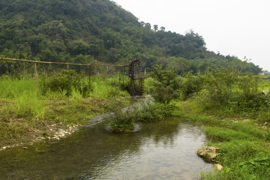 Water wheels near Pu Luong Reserve, north Vietnam