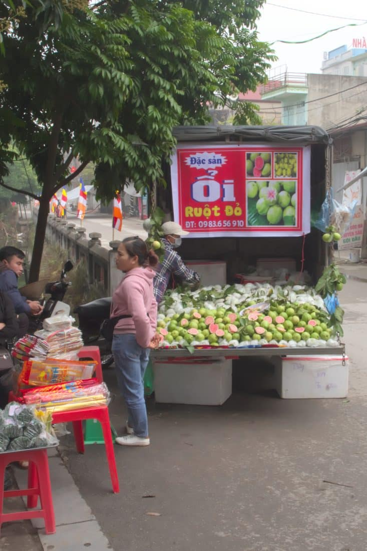 A truck selling guavas in Vietnam