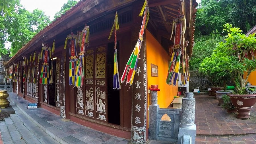 A small temple building at Thien Tru Pagoda in Hanoi, Vietnam