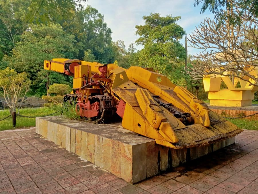 An old soviet rock sweeper used for dam construction in Vietnam